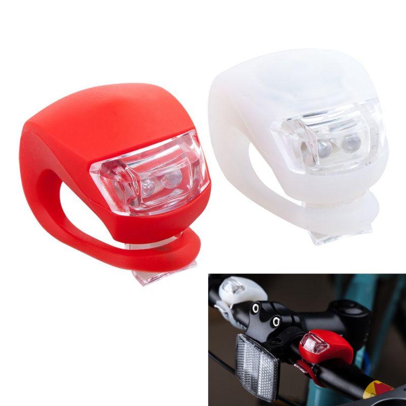 led fahrrad silikon flashlight 2er set f r vorne und hinten. Black Bedroom Furniture Sets. Home Design Ideas