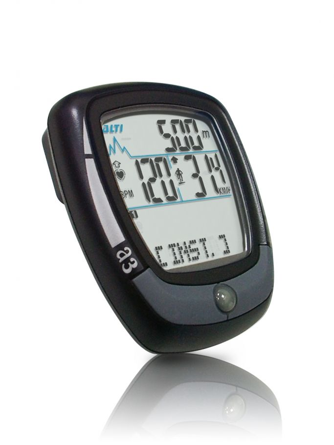 Wireless Bike Bicycle Cycle Computer With Heart Rate White