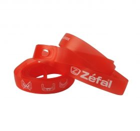 ZEFAL SOFT PVC RIM TAPES - Red - 26'' 22mm by pair