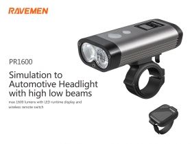 RAVEMEN PR1600  LED USB bike light 1600 lm