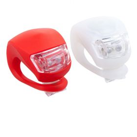 LED Bike silicon flash light front and back set