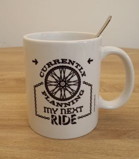 "Bike Mug  ""Currently planning my next ride..."""