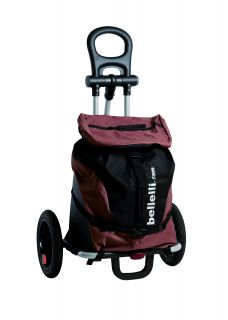 BELLELLI B-TOURIST shopping trolley bike trailer brown